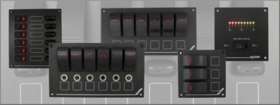 New products for April 2016 UK-made switch panels