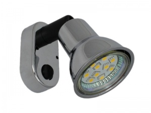 Mini 12V LED Spot Light - Plastic With Chrome Finish
