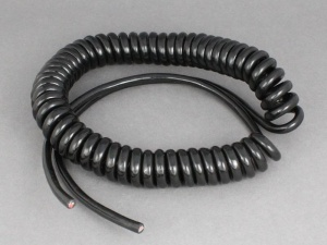 Twin Core Retractable Coiled Cable - 2 x 1.0mm2