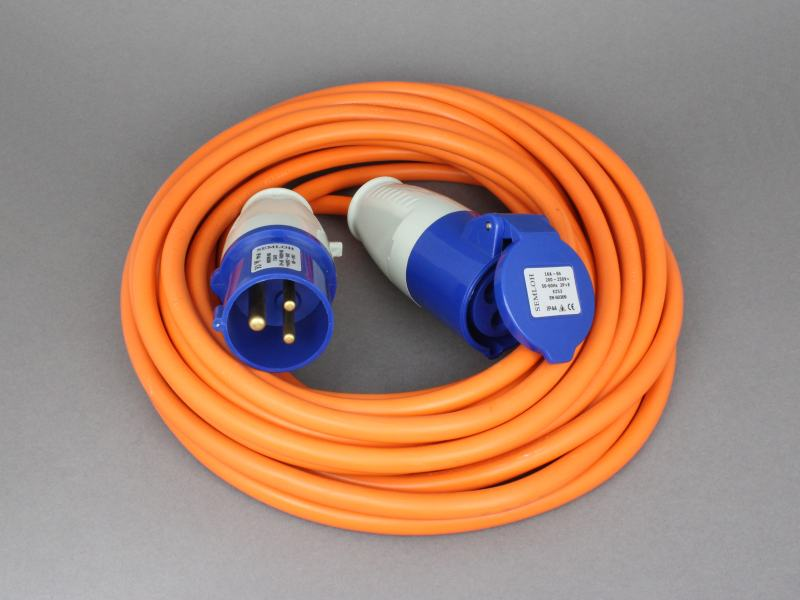motorhome hook up lead Caravan hook up cable - used caravan accessories,  orange caravan mains electric hook up cable/ lead 25 metres  suitable for caravan / motorhome / tent hook up.