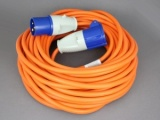 240V Mains Hook-Up Cable / Extension Lead With Plug & Socket - 25 metres