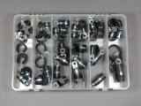 56 Piece Zinc Plated Steel P Clip Assortment Kit