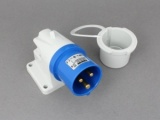 240V Mains Hook-Up Surface Inlet Plug
