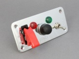 Chrome Ignition & Starter Switch Panel - 5 Hole
