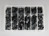 245 Piece Plastic P Clip Assortment Kit