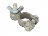 Positive Battery Terminal Clamp - M8 Stud & Wing Nut