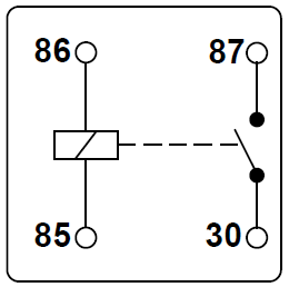 Make_and_break_relay circuit diagram relay symbol detailed schematics diagram