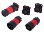 IP67 Waterproof Panel Mount Connectors (12/24V DC, 20A)