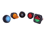 Illuminated Round Rocker Switches