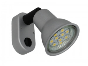 Mini 12V LED Spot Light - Plastic With Matt Silver Finish