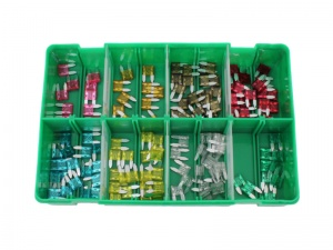 130 Piece Mini Blade Fuse Assortment Kit