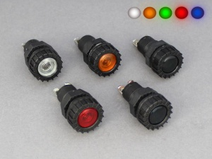 Warning Light With Coloured Lens - 12V