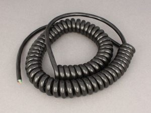 3 Core Retractable Coiled Cable - 3 x 1.0mm2