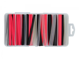 87 Piece Red/Black/Clear Heat Shrink Sleeving Kit