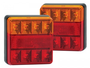 Compact Stop/Tail/Indicator/Reflector Light - Twin Pack (101 Series)