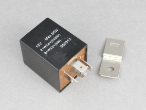 12V Universal Electronic Flasher/Hazard Relay 21Wx2 + 5W