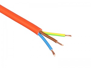 3-Core Flexible PVC Mains Cable - 2.5mm² 20A - Orange (by the metre)