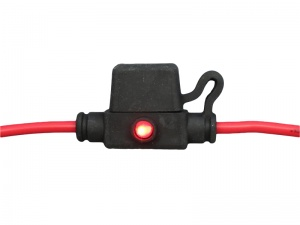 Inline Splashproof Mini Blade Fuse Holder With LED