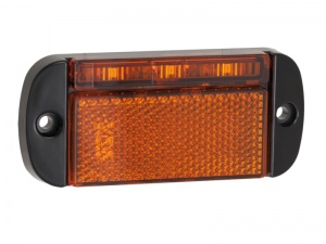Low Profile Side Marker/Reflector Light - Amber (44 Series)
