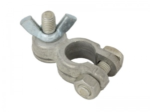 Negative Battery Terminal Clamp  - M8 Stud & Wing Nut