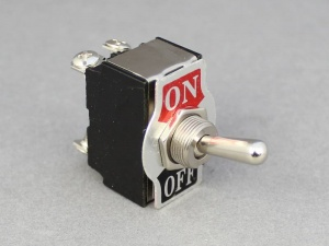ON/OFF Toggle Switch - 20A@12V With Decal