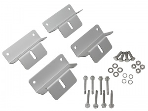 Set of 4 Aluminium Mounting Brackets For Rigid Framed Solar Panels