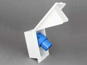 240V Mains Hook-Up Flush Mounted Inlet Plug