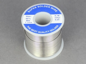 Flux Cored Solder (60:40 / Tin:Lead) - 18SWG, 0.5Kg