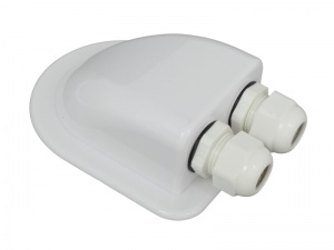 Waterproof Double Cable Entry Gland For 3-7mm Diameter Cable