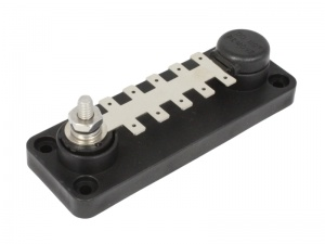 VTE 120A Tab Terminal Busbar - 10 Point - Black