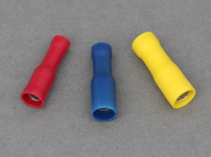 Female Bullet Terminals (Red, Blue, Yellow)