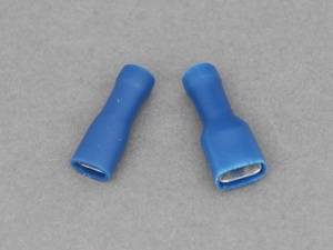 Female Blade Terminals - Fully Insulated - 1.5 - 2.5mm² Cable (Blue)
