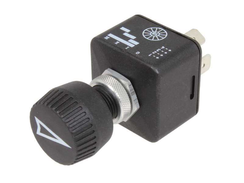 Rotary Switch, 4 Position - 12/24 V on