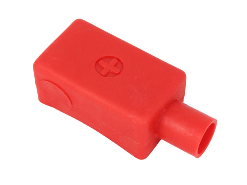 Battery Terminal Covers >> Extra Long Battery Terminal Cover Straight Entry Positive Red