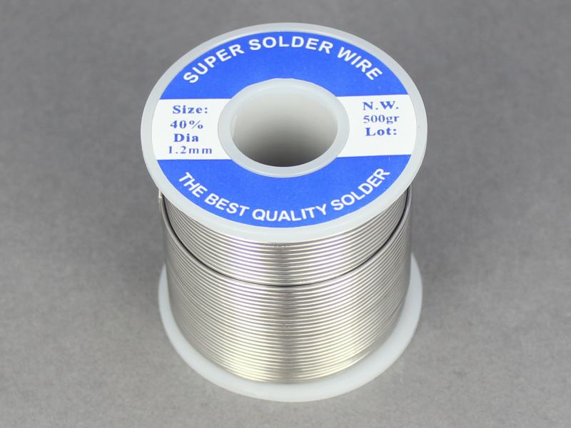 Flux Cored Solder 60:40/Tin:Lead 18SWG 0.5Kg