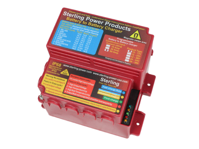 Sterling Waterproof Battery To Battery Charger 12  12v 60a