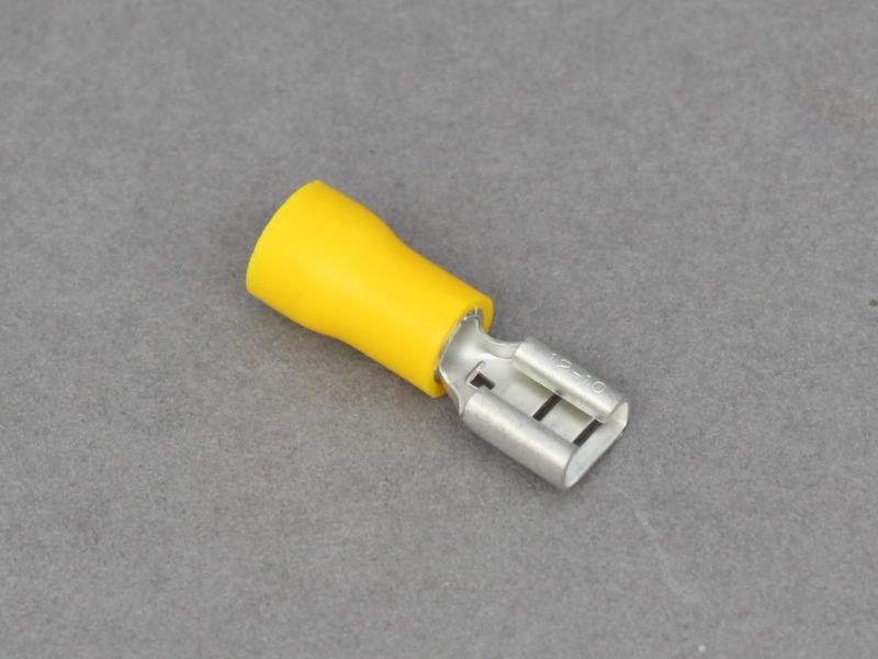Yellow Pre Insulated Female Blade Crimp Terminals 12