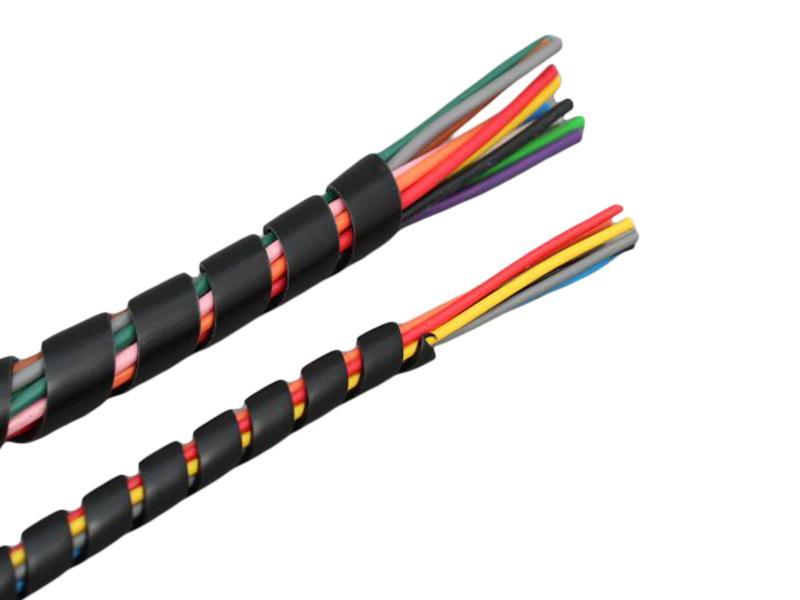 Spiral Wrap Sleeving Black 6 8 Amp 12mm Od 12 Volt Planet