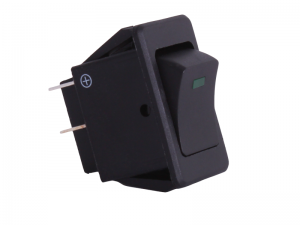 ON/OFF Rectangular Rocker Switch With Green Light - 12V