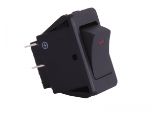 ON/OFF Rectangular Rocker Switch With Red Light - 12V