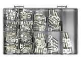 120 Piece Copper Tube Terminal Assortment Kit (6 - 25mm² Cable)