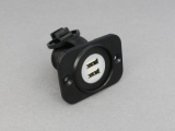 12v / 24v Recessed Twin USB Power Socket (5V 2.1A)