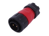 IP67 Waterproof 2-Pin Panel Mount Connector Plug (12/24V DC, 20A)