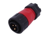 IP67 Waterproof 3-Pin Panel Mount Connector Plug (12/24V DC, 20A)