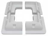 Set of 4 Plastic Corner Mounting Brackets For Rigid Framed Solar Panels