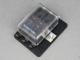 Standard Blade Fuse Box With LEDs - 6 Way