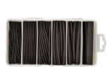 87 Piece Black Adhesive Lined Heatshrink Kit