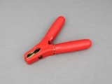 Fully Insulated Battery/Crocodile Clip - 80A Positive/Red