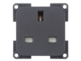 CBE 230V 13A 3-pin socket - Grey