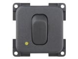 CBE Single Unipolar Switch With LED - Grey